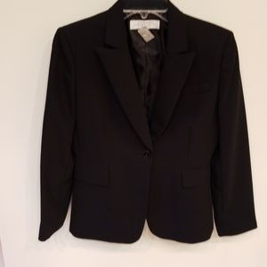 Jackets & Blazers - Tahari Black Pants Suit 6 petite